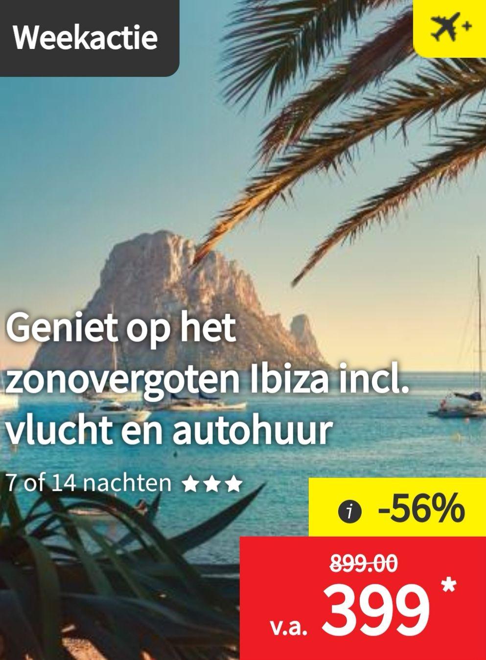 Verblijf 1 of 2 weken op het zonovergoten Ibiza incl. vlucht en autohuur vanaf €399 p.p.  || Lidl