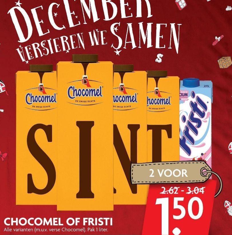 2 pakken Chocomel of Fristi €1,50 || DekaMarkt