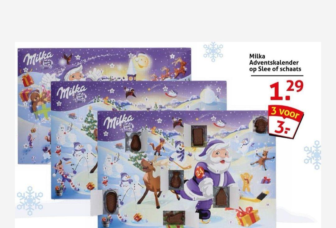 3 Milka adventskalenders voor €3,00 [In-store only] || Op is Op Voordeelshop