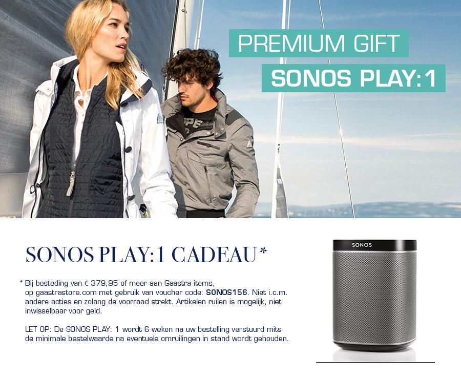 Sonos Play 1 gratis bij je bestelling @ Gaastra