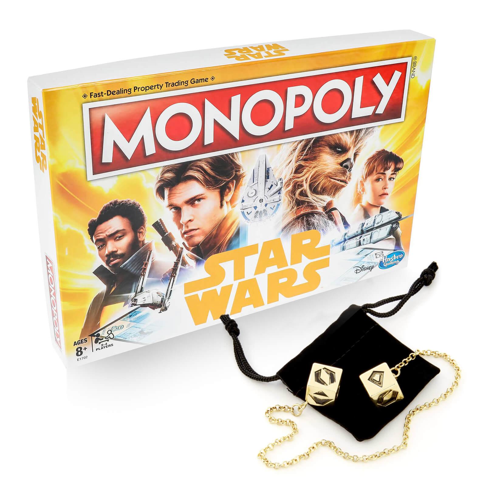 Star Wars Monopoly + Han Solo dobbelstenen voor €22,99 @ Zavvi