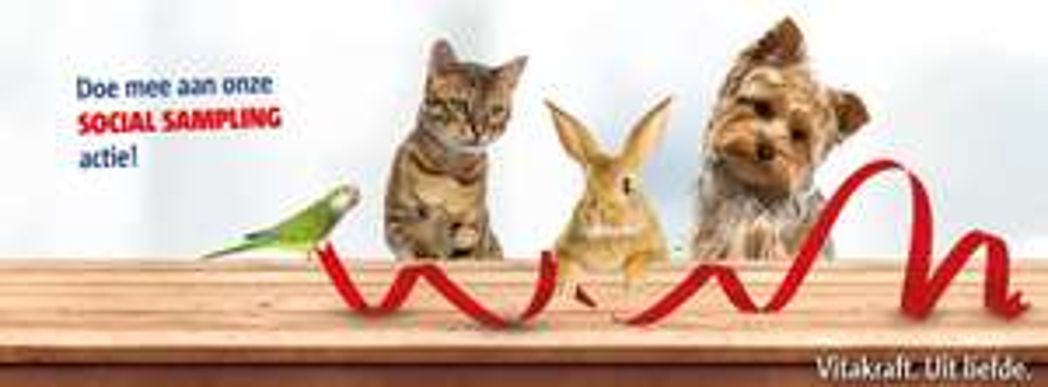 Gratis Vitakraft -product voor hond, kat knaagdier of vogel thuisgestuurd