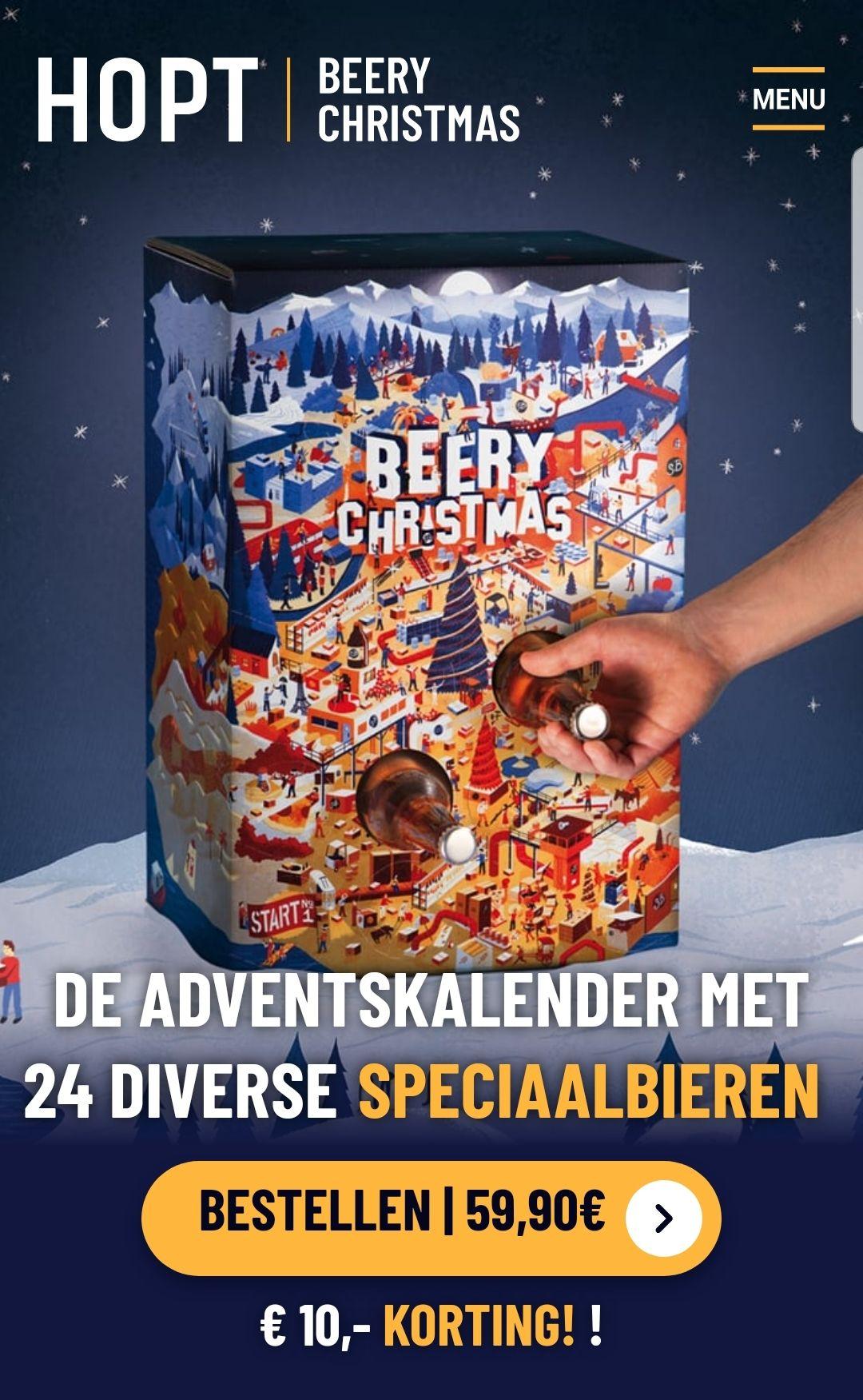 20 euro korting op bier adventkalender @ hopt.nl!
