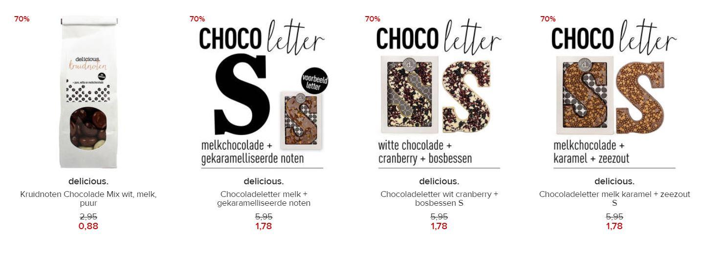 Chocoladeletters en pepernoten -70%