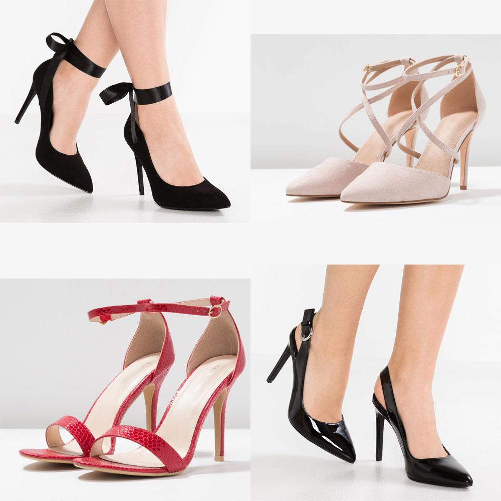 30+ High heels met 60% korting  - van €11,95 - €23,95 - @ Zalando