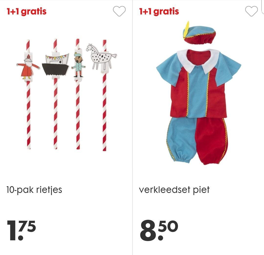 Sinterklaas decoratie 1+1 gratis bij Hema.be en Hema.nl