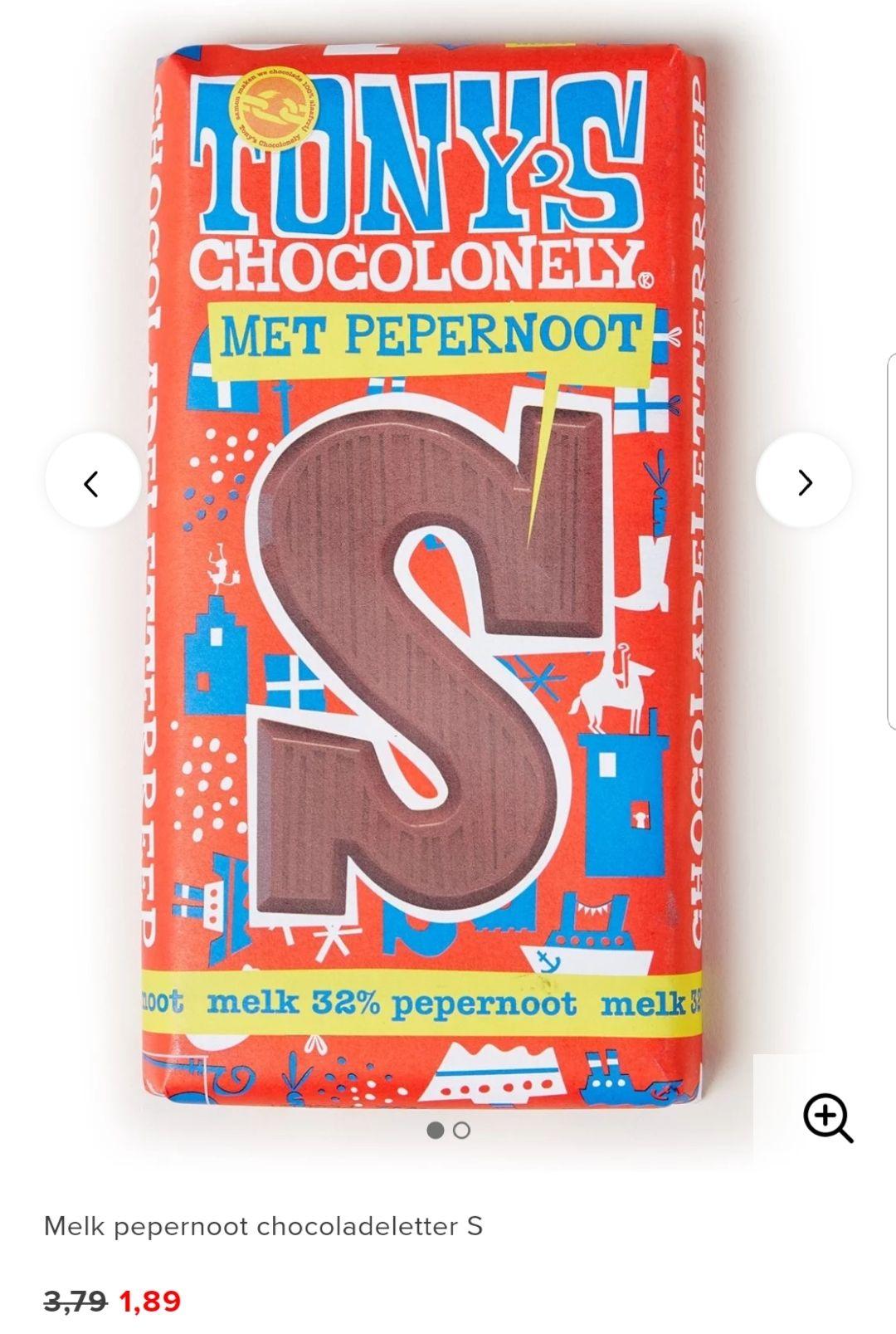 (Sinterklaas)snoep/chocolade 50% korting + Van Delft Pepernoten en De Bijenkorf chocoladeletters 1+1 gratis bij Bijenkorf