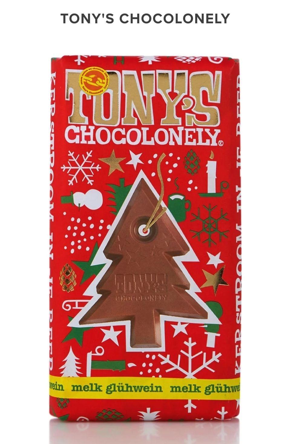 Tony's Chocolonely melkchocoladereep met glühwein 180 gram met 70% korting bij Bijenkorf