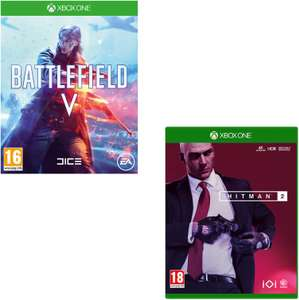 Battlefield V + Hitman 2 (Xbox One) voor €70,65 @ Game.co.uk