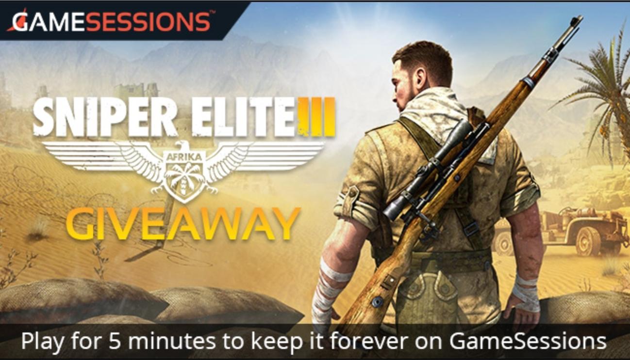 Sniper Elite 3 (PC) gratis @ Gamesessions