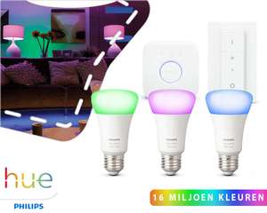Hue white and color ambiance startkit + dimmer @ 1dayfly