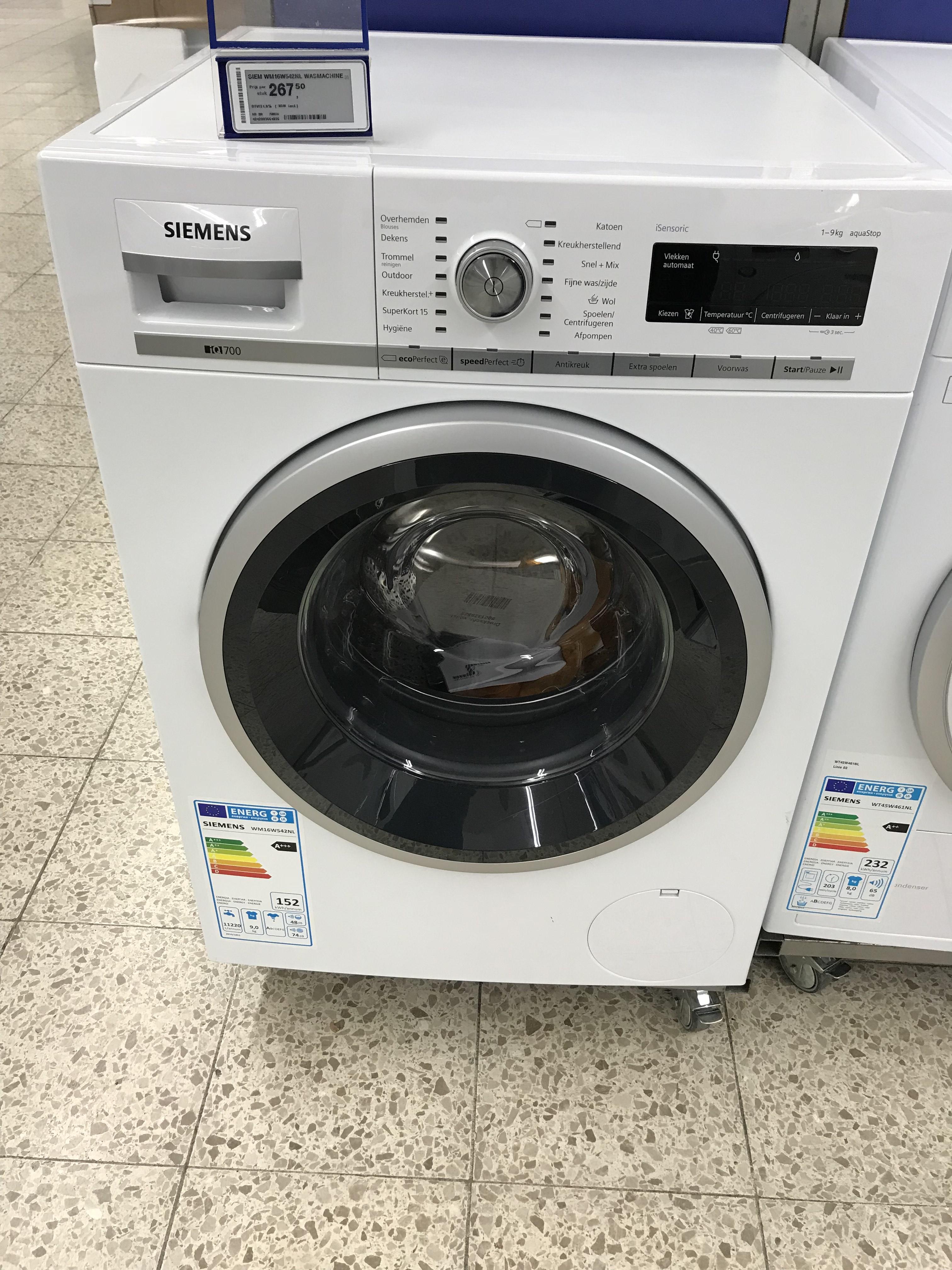 Siemens WM16W542NL Wasmachine bij Makro delft