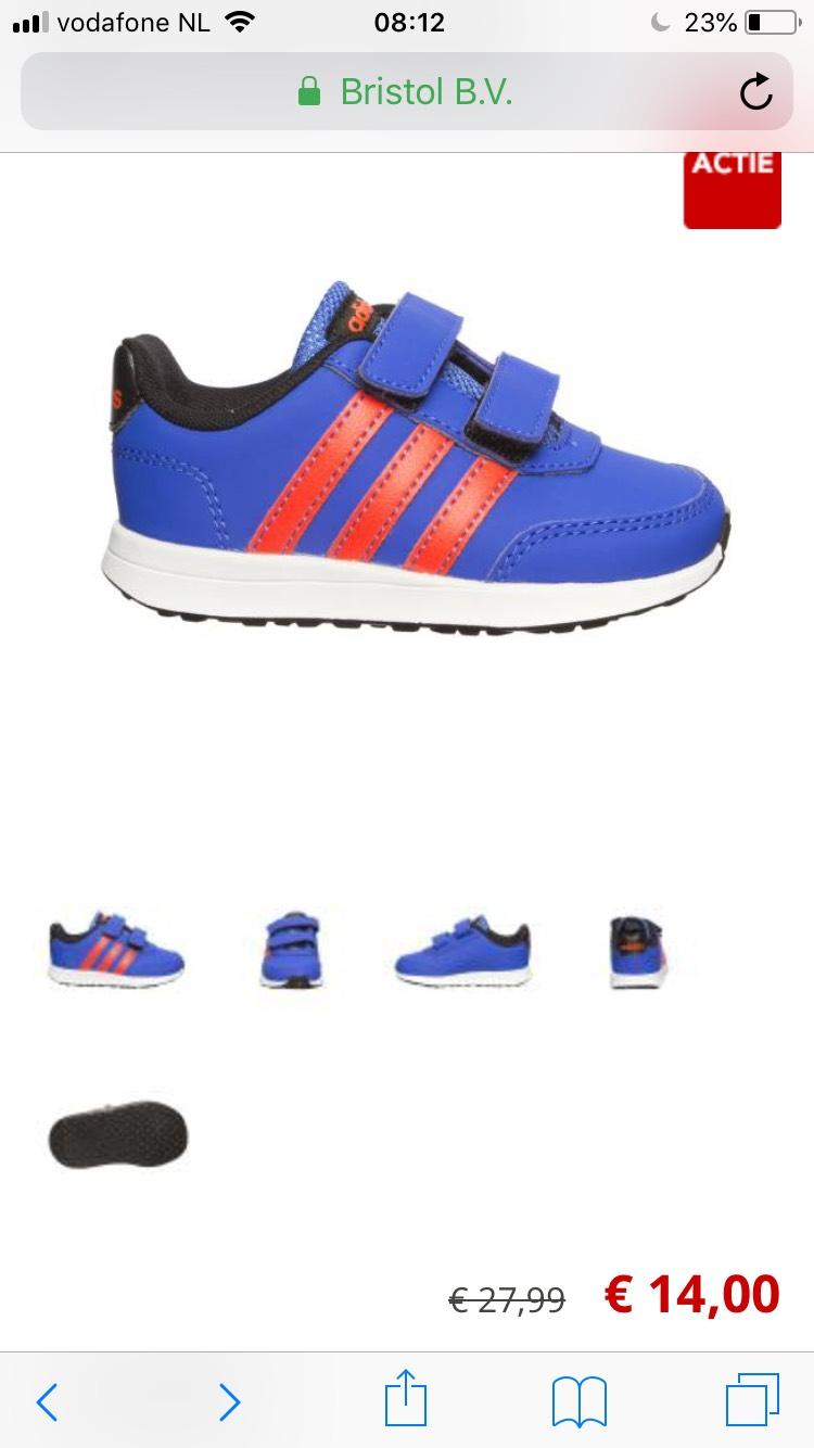 Adidas en Nike schoentjes maat 20 t/m 27 vanaf €14,00 bij Bristol tijdelijk gratis verzenden!