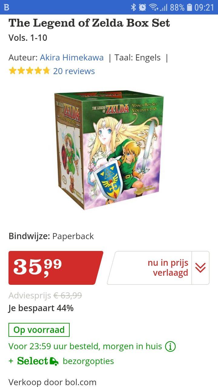 O.a. The Legend of Zelda MANGA @ Bol.com