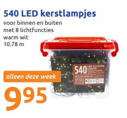 540 LED-lampjes indoor en outdoor voor €9,95 @ Action