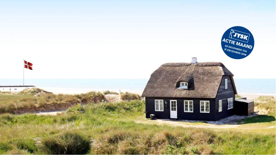 JYSK December Actie Maand: Dansk.nl 5% korting op je Denemarken vakantie!