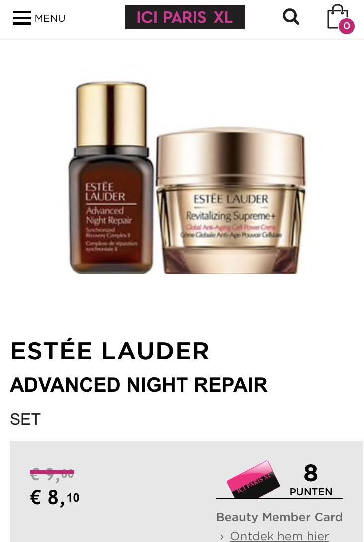 Estee Lauder miniaturen deal (7 ml)