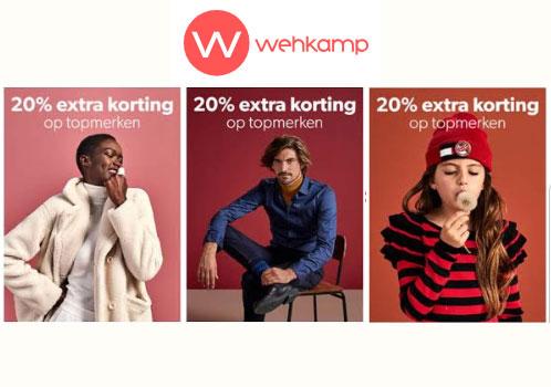 Actie: 20% EXTRA korting op topmerken @ Wehkamp