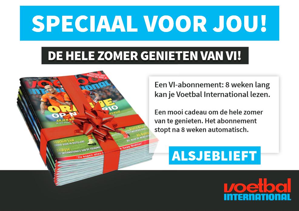 8 weken het weekblad VI + Gratis VI Premium voor €10,- (stopt automatisch) @ Voetbal International