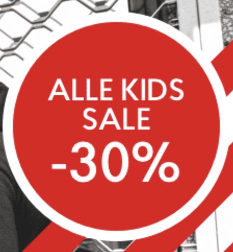 Nu 30% kortinig op alle kinderkleding bij Shoeby