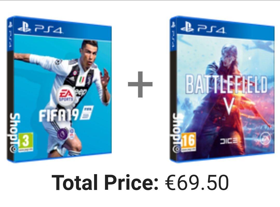FIFA 19 + Battlefield V (PS4) @ShopTo