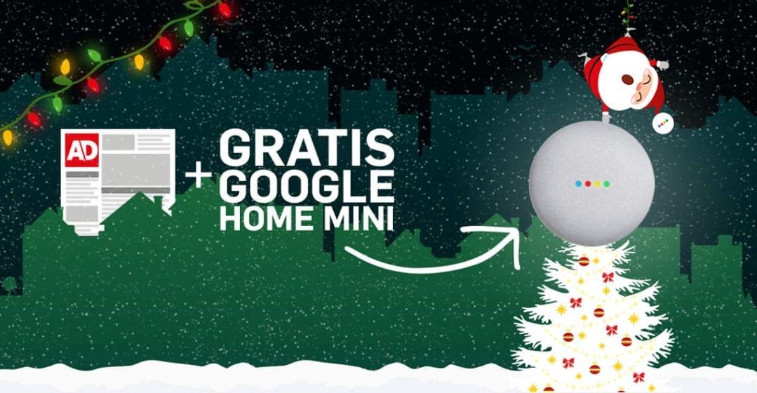 Gratis Google home mini + 44% korting op een AD abonnement