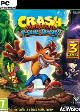 Crash Bandicoot N. Sane Trilogy (Steam) voor 14,79€
