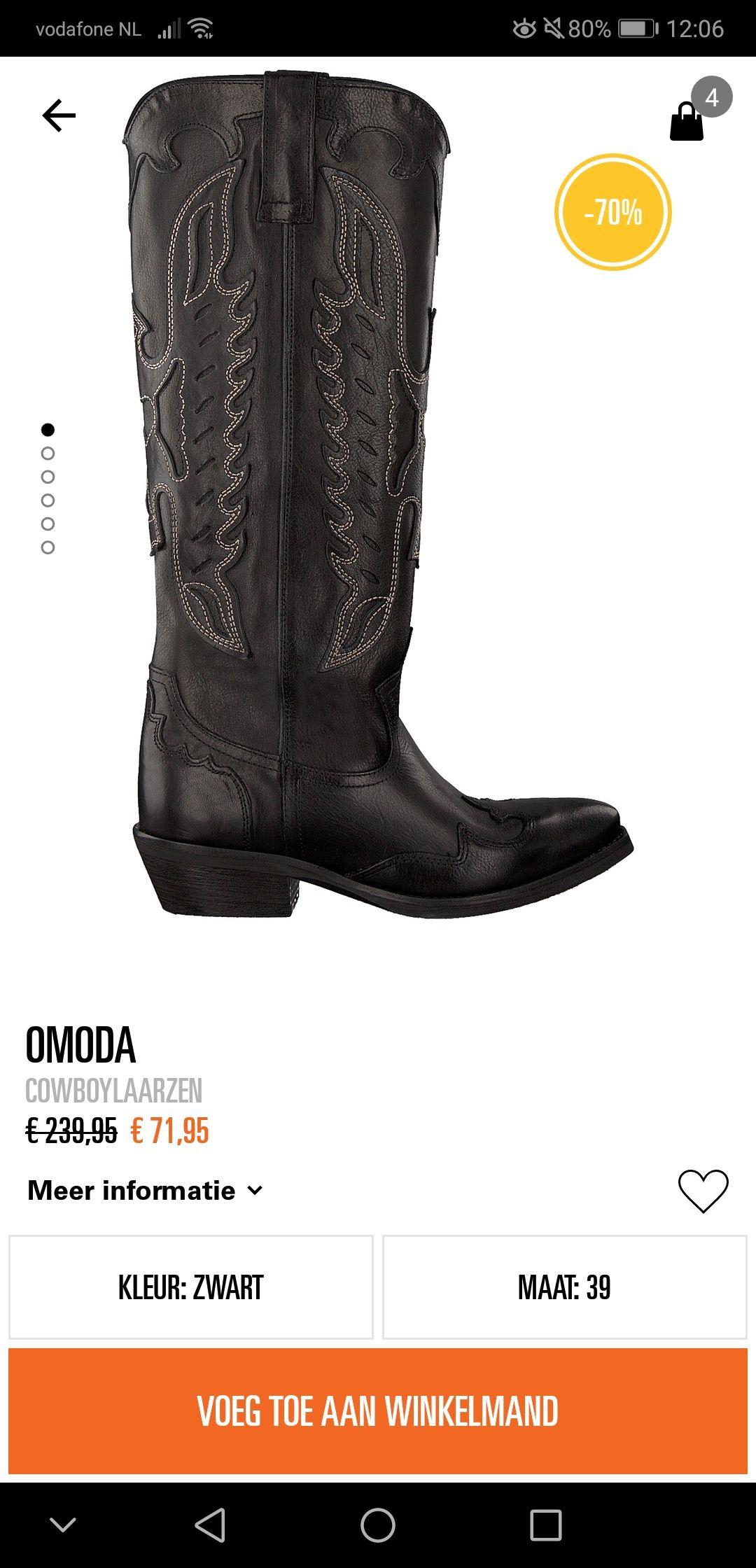 Zwarte cowboylaarzen @Omoda