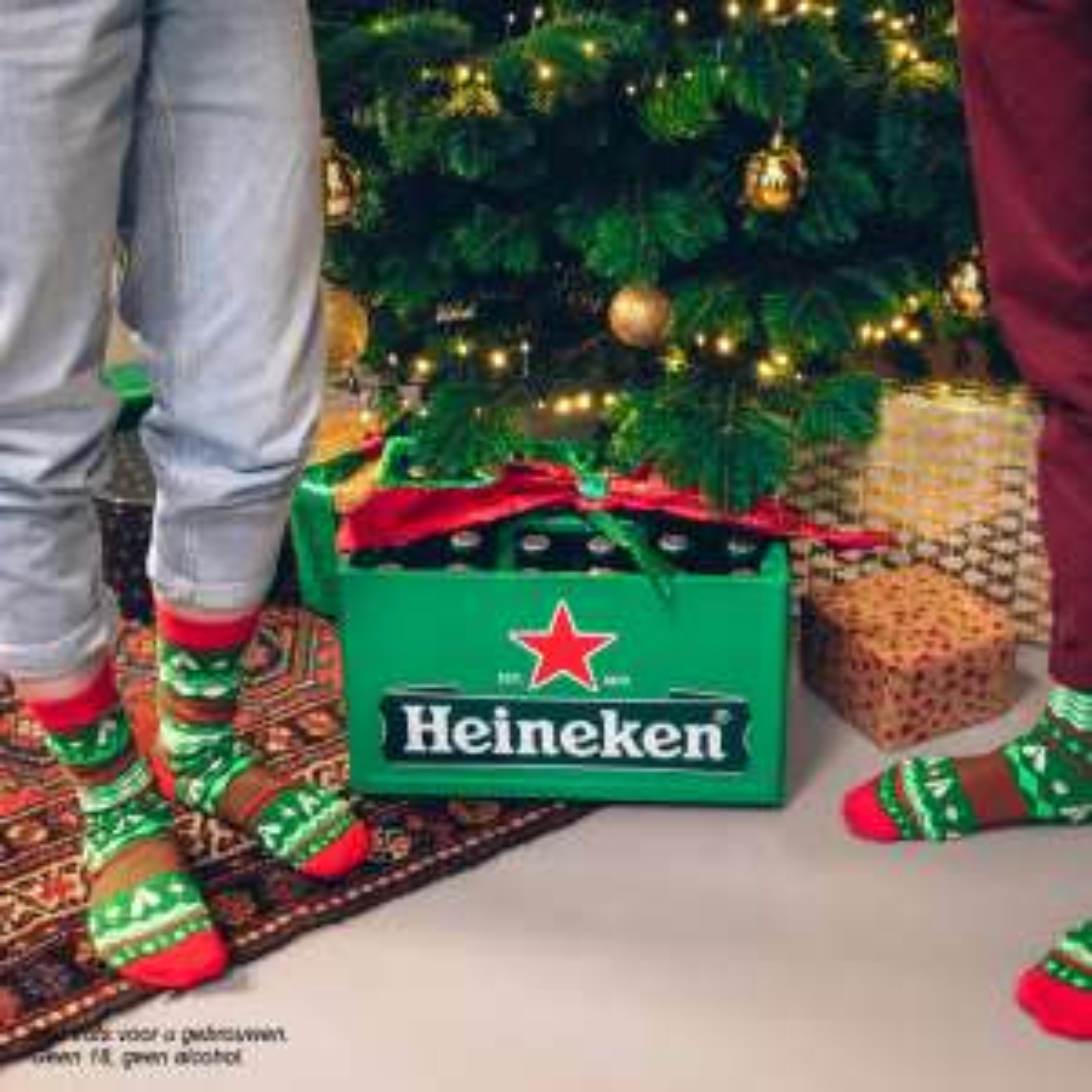 Gratis Heineken kerstsokken bij krat of 0.0