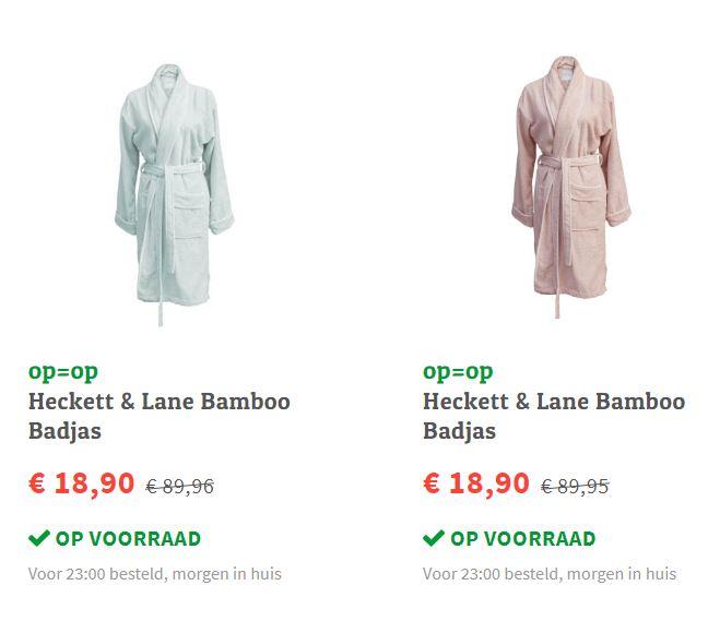 Heckett & Lane Bamboo Badjas - 2 kleuren - XL @ fonQ
