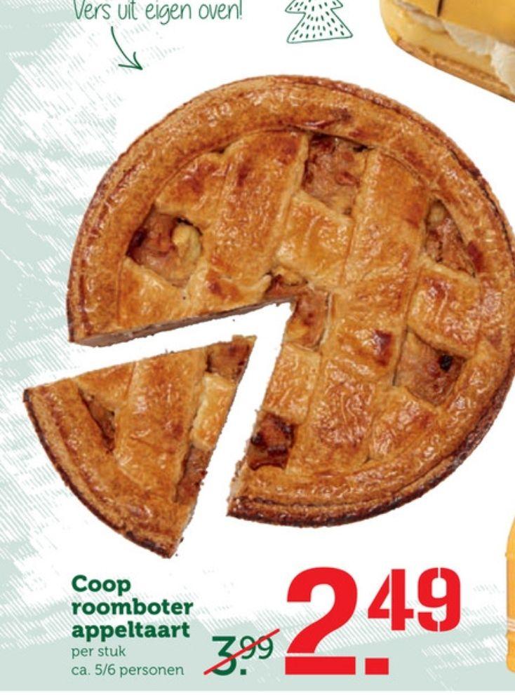 Roomboter appeltaart bij de COOP