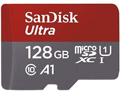 SanDisk Ultra MicroSDXC-geheugenkaart, 128GB @amazon.de