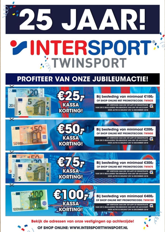 Jubileumactie bij intersport twinsport