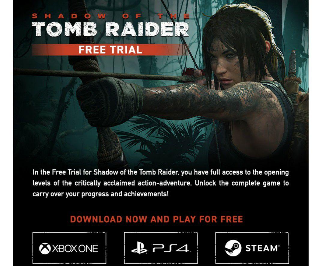 Gratis demoversie Shadow of The Tomb Raider
