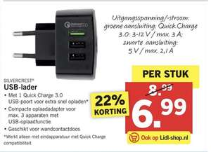 USB Oplader Quick Charge 3.0 @ Lidl