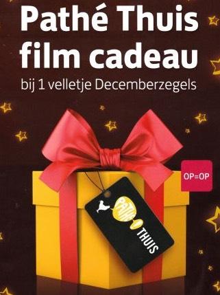 Film cadeau bij aankoop van 1 vel decemberzegels @Post NL locatie