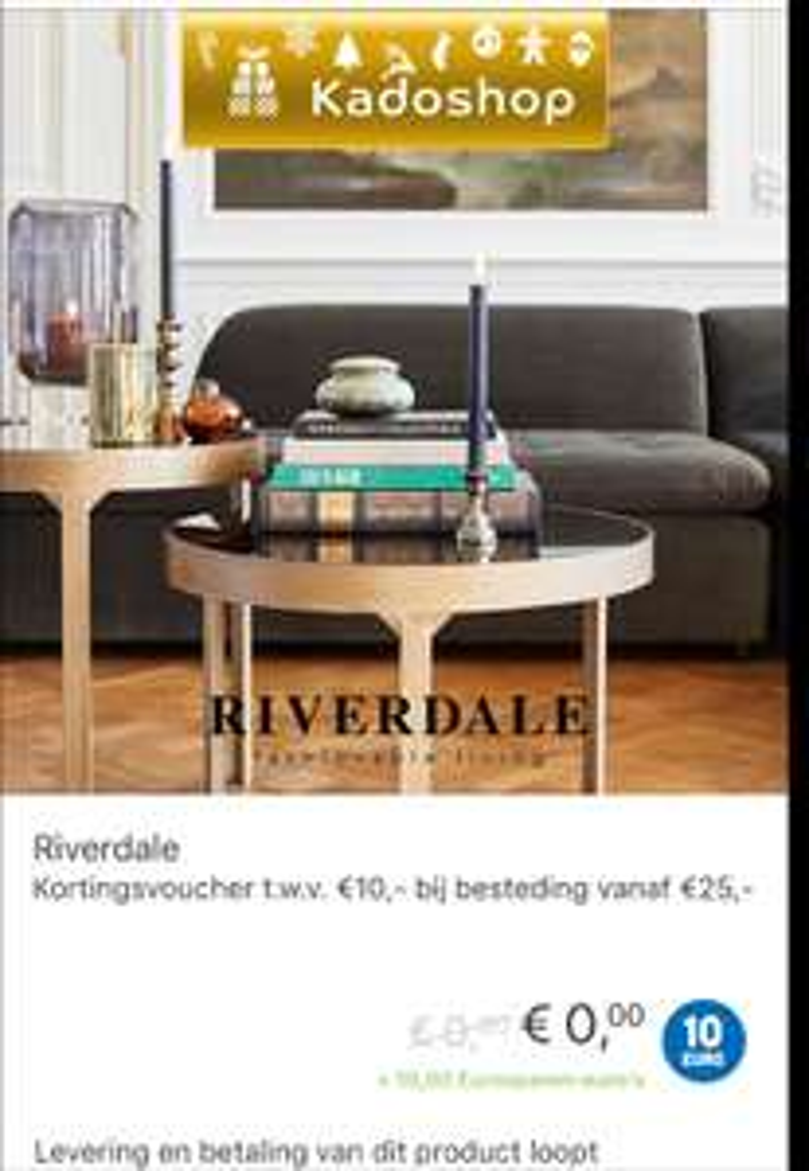 Riverdale - Kortingsvoucher t.w.v. €10,- bij besteding vanaf €25@eurosparen