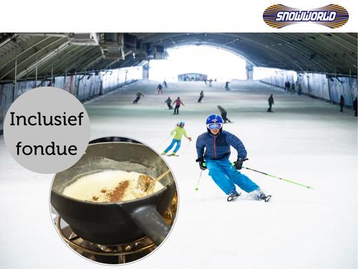 Voucher Skiën of Snowboarden + Fondue