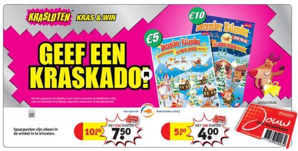 Decemberkalenders €1 / €2,50 korting met punten @ Kruidvat