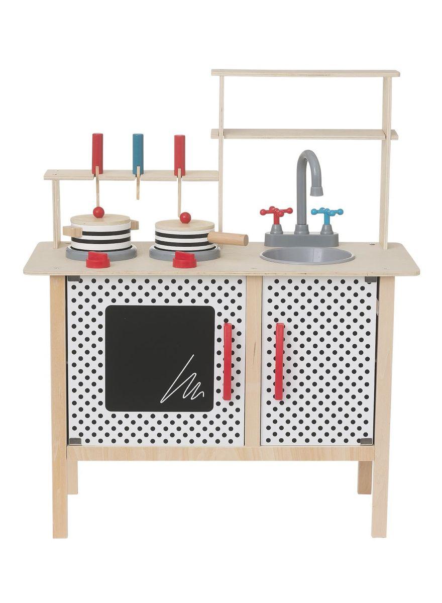 Houten speelkeuken met keukengerei €35 (was €65) @ HEMA