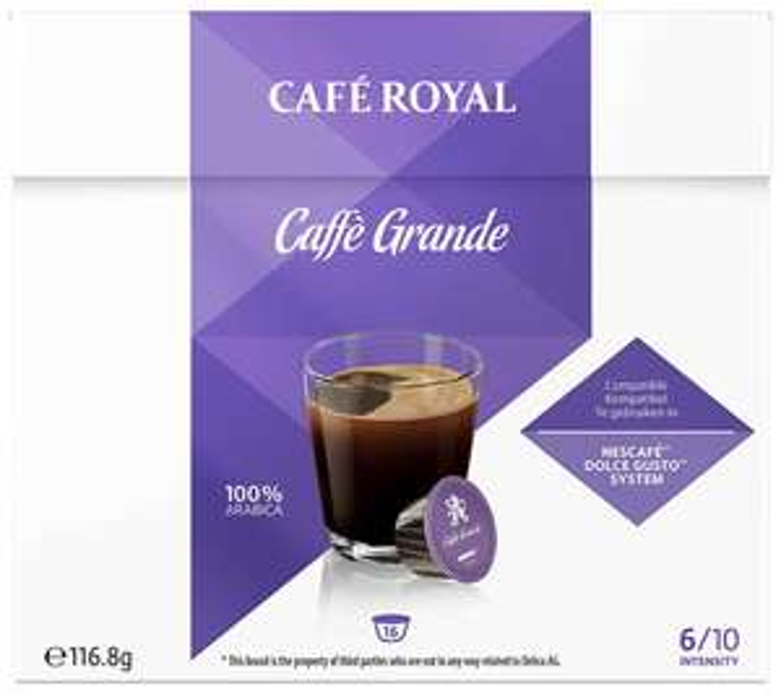 Café Royal | Caffè Grande (Dolce Gusto) 25% korting