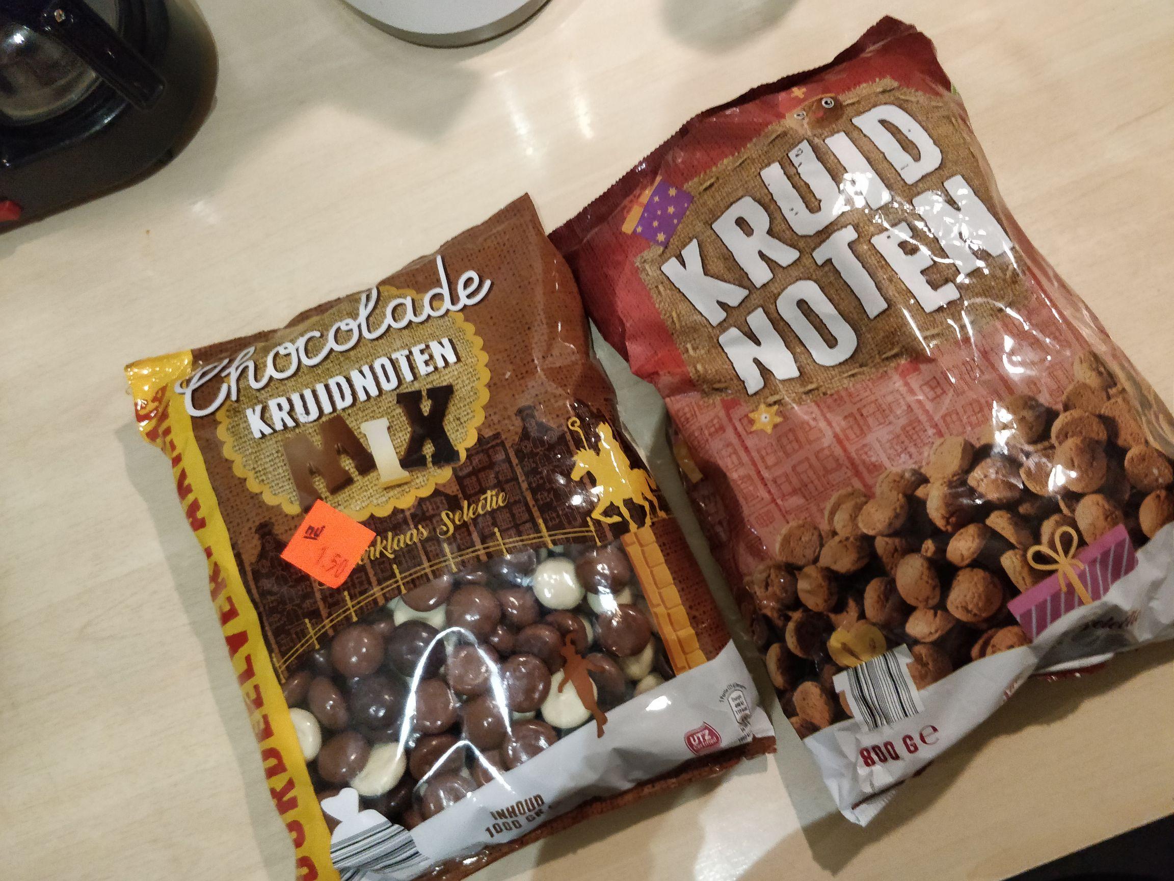 Kruidnoten 0,25 voor 800g (Chocolade 1,50 per kg) @Aldi