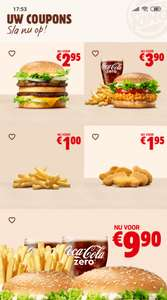 Big King, Crispy Chicken Menu en meer kortingcoupons @ Burger King App