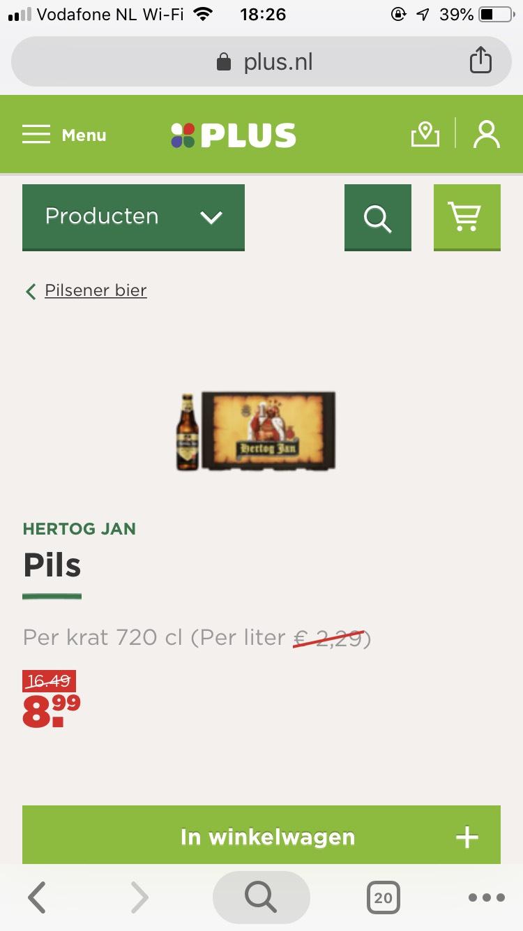 Kratje Hertog Jan slechts €8.99