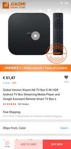 Xiaomi Mi Box S (4K Android TV) voor €51