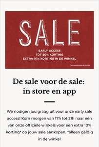 Start sale scotch and soda 11 december: tot 50% korting