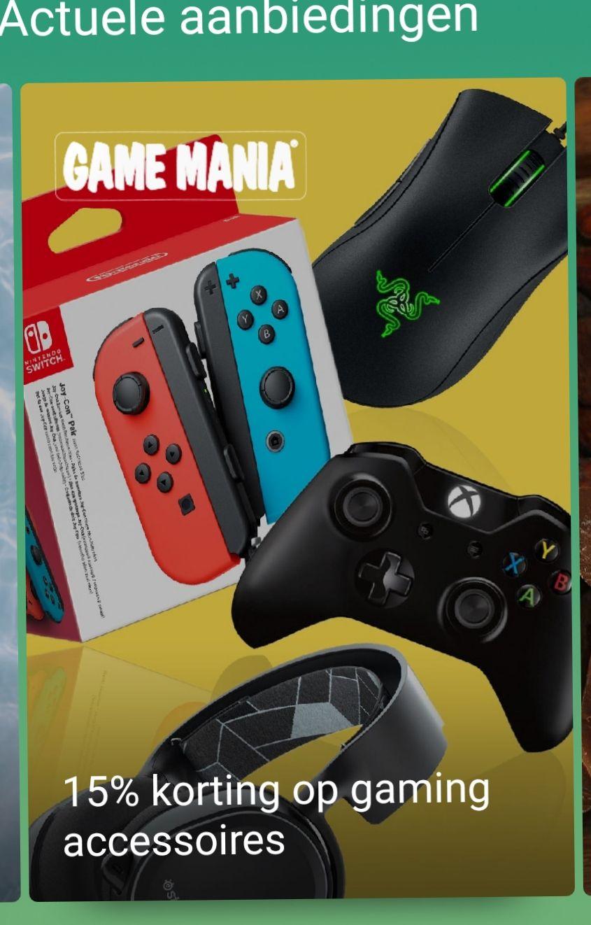 Abn-amro &Meer kortings code 15% bij game mania alleen voor gaming accessoires