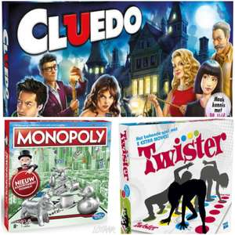 Spellen Monopoly, Cluedo en Twister vanaf €12,50 (Eurosparen en Optimel)