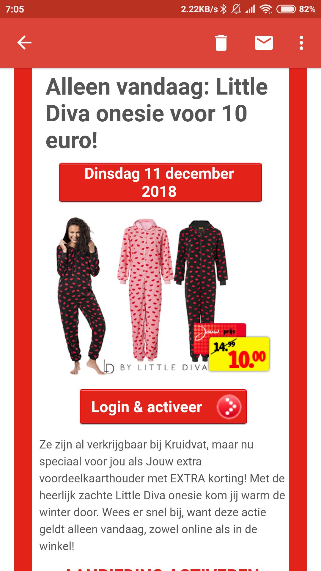 Verschillende onesies voor dames en kinderen voor 10 euro