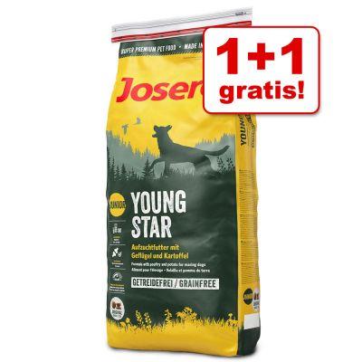 Tijdelijke aanbieding! Bij aankoop van 1 x 900 g Josera YoungStar Droogvoer krijg je nu 1 x 900 g van dezelfde variant gratis!